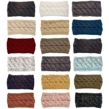 Women Winter Knit Headband Hairband Ear Warmer Crochet Twist Hair Band Hat Cap