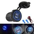 4.1A Авто прикуриватель USB автомобильный адаптер гнездо зарядное устройство светодиодный дисплей USB прикуриватель автомобильное зарядное ус...