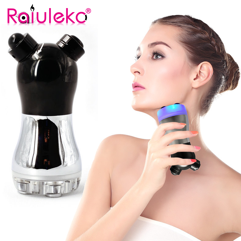 Portable 3 Color LED Photon Facial RF Radio Frequency Massager Skin Rejuvenation Face Skin Lifting Hot No-needle Beauty Machine
