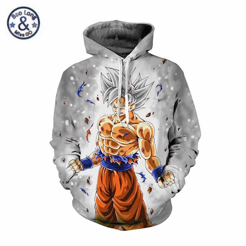 Strict Anime Dragon Ball Super Saiyan Print Sweatshirts Joker Pullover Hoodies Avengers Fashion Streetwear Teenager Costume Jacket Coat Men's Clothing