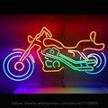 Sinal de Néon quente Vidro Real Neon Sinais Para Harley Davidson Motor de Arcade Exibição Janelas de parede sinais artesanato Sinal da Luz de Néon 25x14