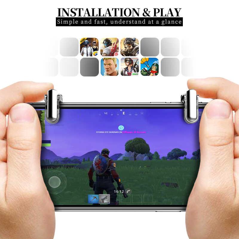 Дата лягушка телефон игра триггер пожарная кнопка для мобильного телефона геймпад L1 R1 шутер для Iphone ножи выход для контроллера PUBG