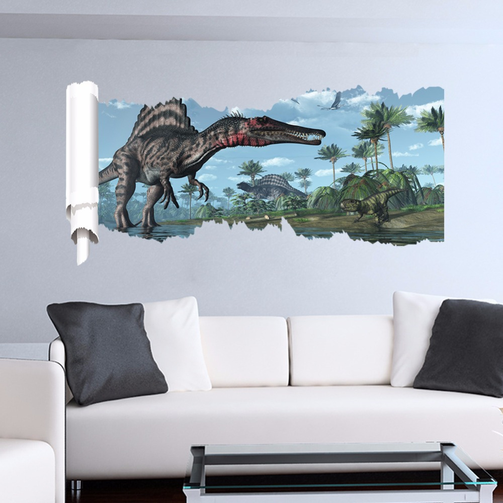 Online get cheap dinosaur wall decals alibaba group - 3d vinyl wandtattoo ...