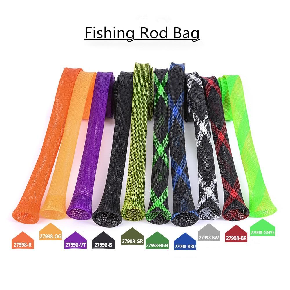 2018 New Popular Fishing Rod Bag Protector PET Mesh Tube Telescopic Rod Protector Handbag Fishing Gear Wholesale