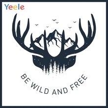 Yeele Wallpaper Deer Wild Freedow Room Decor Paint Photography Backdrop Personalized Photographic Backgrounds For Photo Studio playmobil игровой набор инопланетный воин с т рекс ловушкой