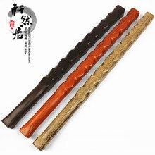 Self-defense solid wooden wenge wood self-defense stick ebony whip car bar Red AfricanPadauk hardwood mace