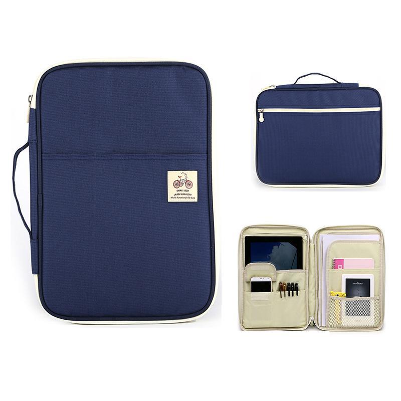 Jonvon Satone Multi Function A4 File Bag Portable Zipper Desk Accessories Office Supplies Organizador Escritorio Desk Organizer 2