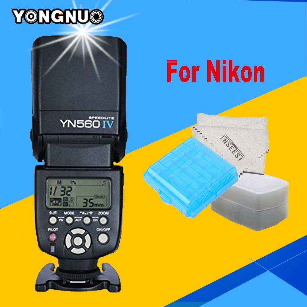 YONGNUO YN560IV  YN560 IV Flash Speedlite For Nikon d7100 d3100 d5300 d7000 d5200 d7200 d3200 d3300 DLSR Camera YN560-IV Flash макрокольца для nikon d3100 в иваново