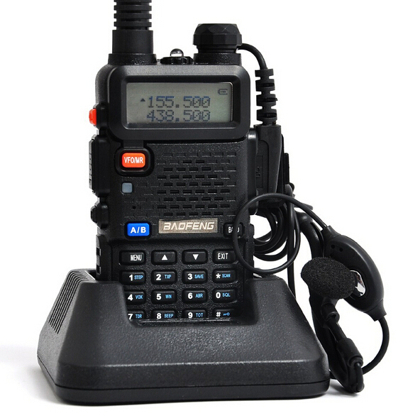 10 pcs Baofeng UV 5R Walkie Talkie 136-174MHz&400-520 MHz Two Way Ham Radio +Free Earpiece Radio Comunicador A0850A