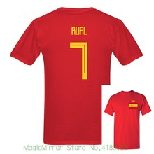 e6aeeb34eb4 2018 New Russia World Match Cup Spain Rual Number 7 sporty jersey summer T shirt  Mens · 9 Colors Available