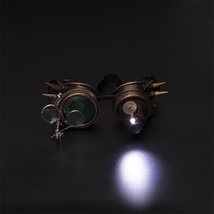 Image 2 - FLORATA קוספליי בציר מסמרת Steampunk משקפי משקפיים ריתוך גותי קליידוסקופ צבעוני רטרו משקפי