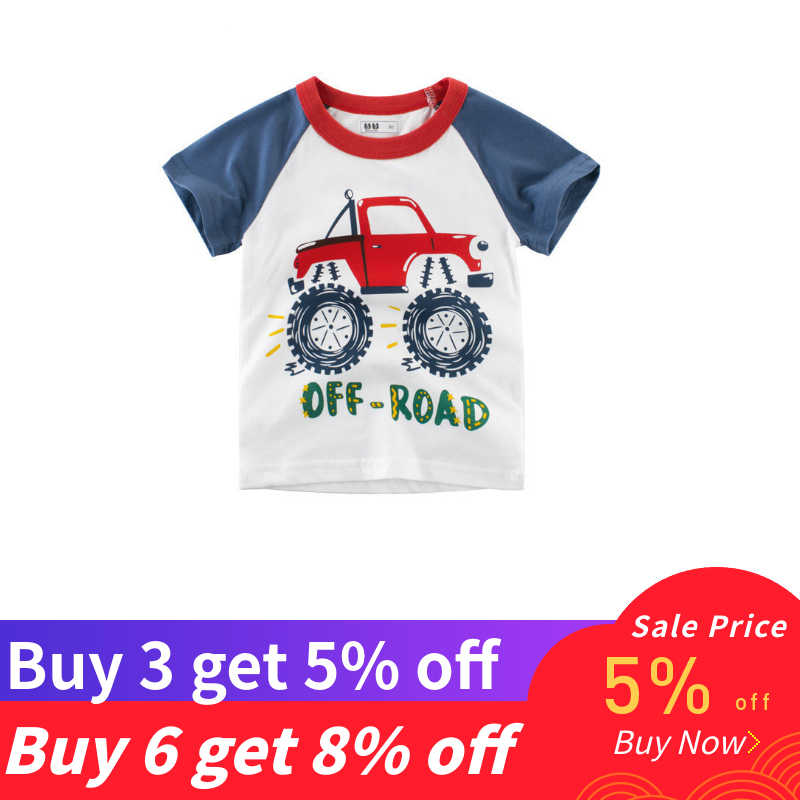 27 детская футболка с рисунком «тракторы», хлопковая футболка для маленьких мальчиков и девочек, летние детские футболки, новые детские топы, футболки
