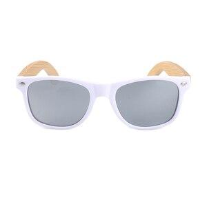 Image 2 - بوبو الطيور النساء نظارة شمسية من خشب البامبو الاستقطاب الأبيض مربع إطار خمر نظارات oculos دي سول feminino C CG007