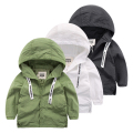Baby Hooded Jacket 2017 spring new boy windbreaker jacket coat color children's leisure
