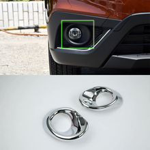 Car Accessories Exterior 2pcs ABS Chrome Front Head Fog Light Lamp Cover Trim For SUZUKI S-Cross 2017 Styling