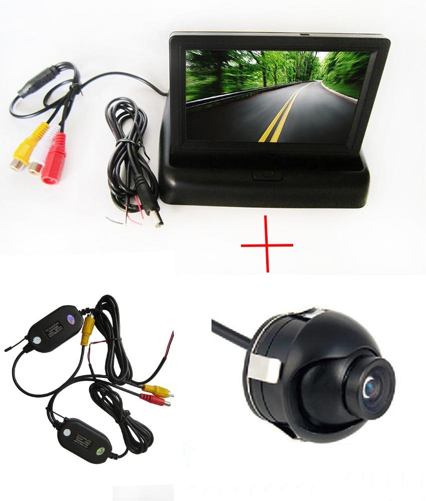 Mini Parking Camera WIFI Camera Wireless SONY CCD Car 360 Degree Rear View Reverse camera 4.3 TFT LCD Color Monitor