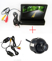 Mini Parking Camera WIFI Camera Wireless SONY CCD Car 360 Degree Rear View Reverse camera 4.3 TFT LCD Color Monitor