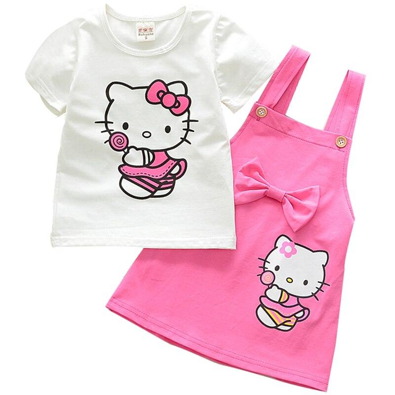 Baby Mädchen Kleidung Sets Hallo Kitty Sommer Cartoon Gedruckt - Kinderkleidung