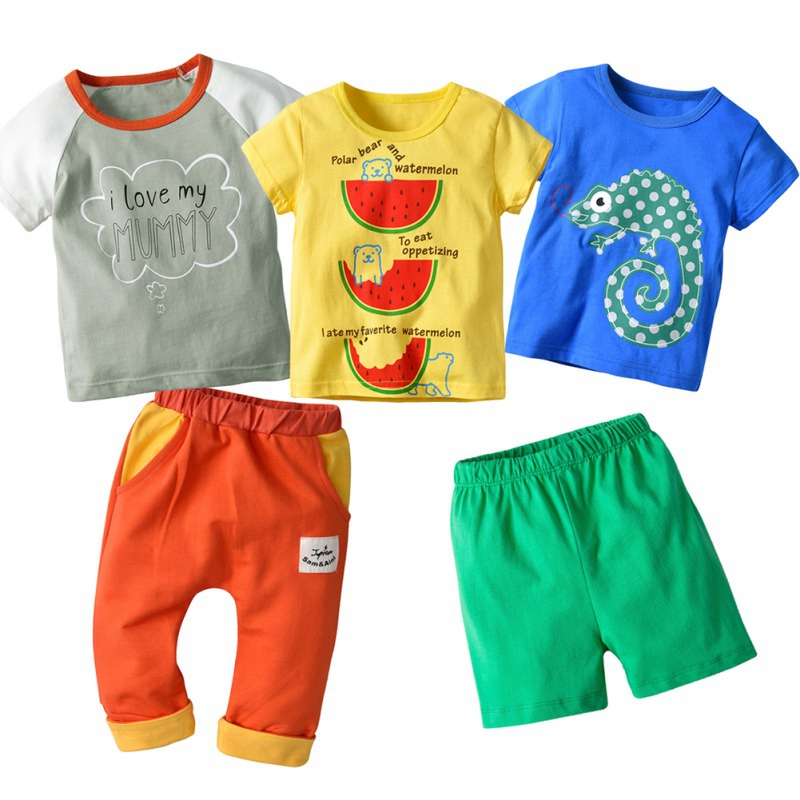Honest 5pcs/lot Baby Clothing Sets Leisure Sports Boy T-shirt Mother & Kids Shorts Sets Toddler Clothing Baby Boy Clothes To Win Warm Praise From Customers Boys' Clothing