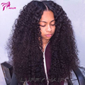 Curly Wig Glueless Lace Front Human Hair Wigs For Black Women Virgin Indian Kinky Curly Full Lace Wig Human Hair With Baby Hair