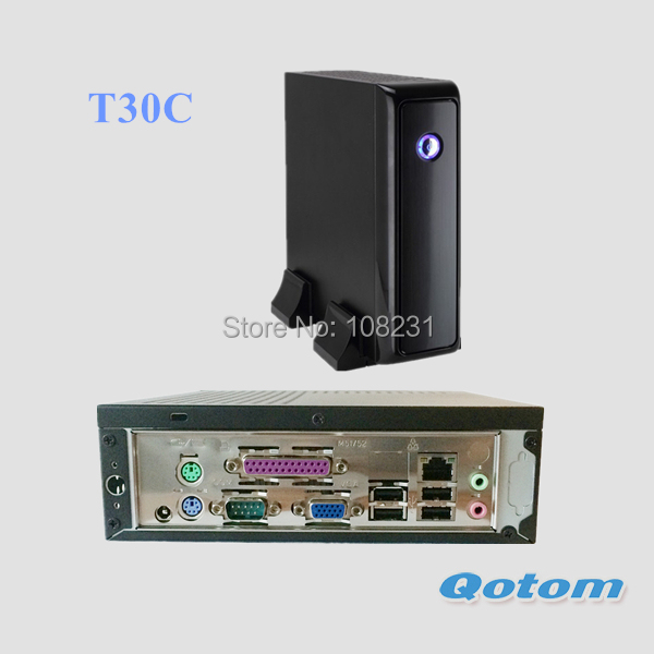 цены  QOTOM Mini PC with Celeron 1037U Processor, VGA, Serial, Parallel, 4 USB, 1 or 2 LAN port, cheap Mini PC with Parallel Port
