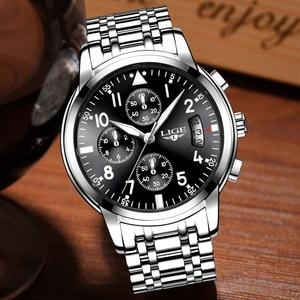 Image 2 - Relogio Masculino Mens שעונים עמיד למים קוורץ עסקי שעון ליגע למעלה מותג יוקרה גברים מקרית ספורט זכר שעון Relojes Hombre