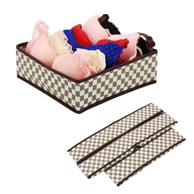 DINIWELL 3ks / sada skládací oddělovací podložka podložka Brašna z netkané textilie skládací pouzdra krk ponožky spodní prádlo oděv organizér