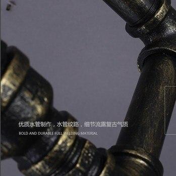 لوفت نمط الحديد انبوب ماء مصباح الصناعية خمر جدار تركيبات إضاءة اديسون شمعدانات جدارية إضاءة داخلية لامبارا باريد