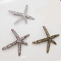 New! Women Vintage Starfish Hairpins Girls Fashion Party Daily 3Colors Stelleroid Hair Accessories Sea Star Hair Clip Barrettes