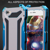 2015 Newest For Iphone6 Luxury Aluminum Metal Silicone Gorilla Glass Waterproof Shockproof Case Cover For IPhone