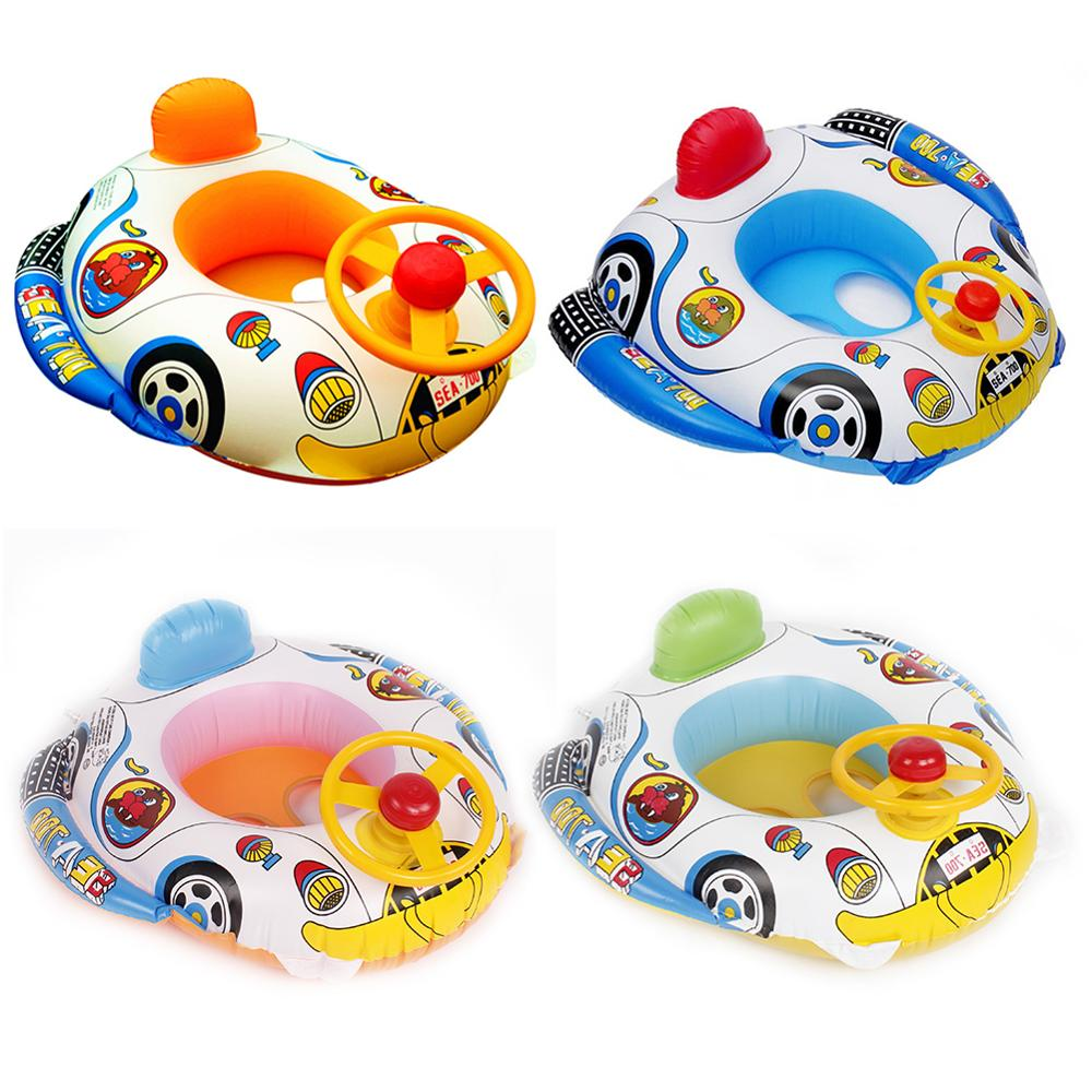 1pc Baby Inflatable Float Seat Swimming Seat Aid Trainer Beach Float Boat Summer Float Water Car Toy Outdoor Funny Swimming Toy