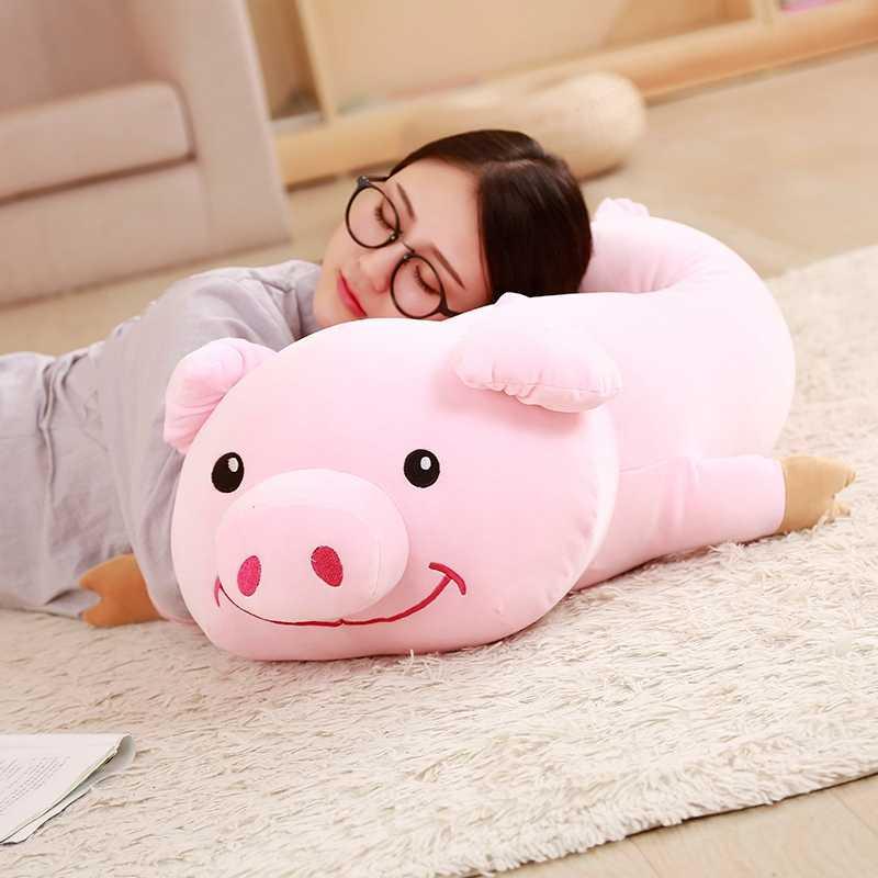 30-90 cm Adorável Sorriso Porco Cor De Rosa de Pelúcia Brinquedos de Pelúcia Animal Bonito brinquedos para As Crianças Crianças Apaziguar Boneca Kawaii Decoração do Quarto Da Moda presentes