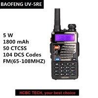 BAOFENG UV 5RE Comunicador UHF VHF UV 5RE Talki Walki PTT Police Scanner Portable CB Radio Mic Speaker updated UV 5R UV 5RE PLUS
