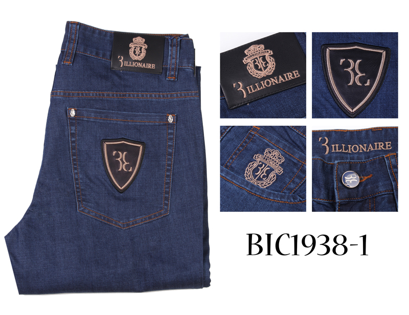 BILLIONAIRE   Jeans   men 2019 summer Thin new Authentic Cowhide fashion England embroidery cotton high quality 31-40 free shippng