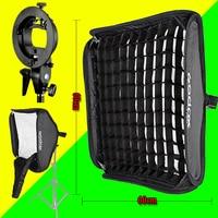 Fotografie licht Wabengitter Flash Reflektieren & Godox 60 cm * 60 cm Flash Softbox + S typ Halterung Kit für Blitz Speedlite Studio
