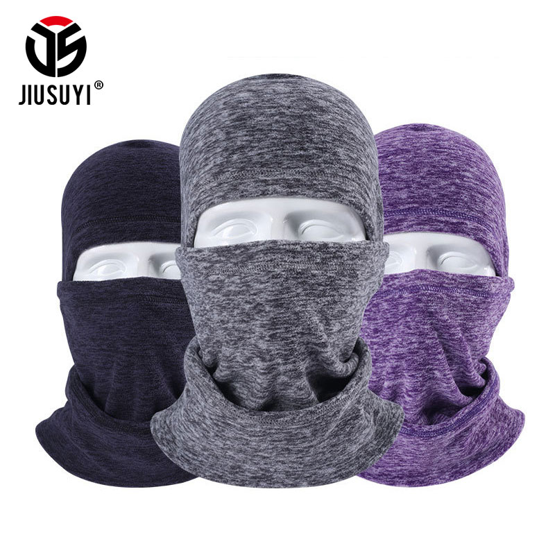 JIUSUYI Cold Weather Windproof Winter Fleece Wool Thermal Balaclava Beanies