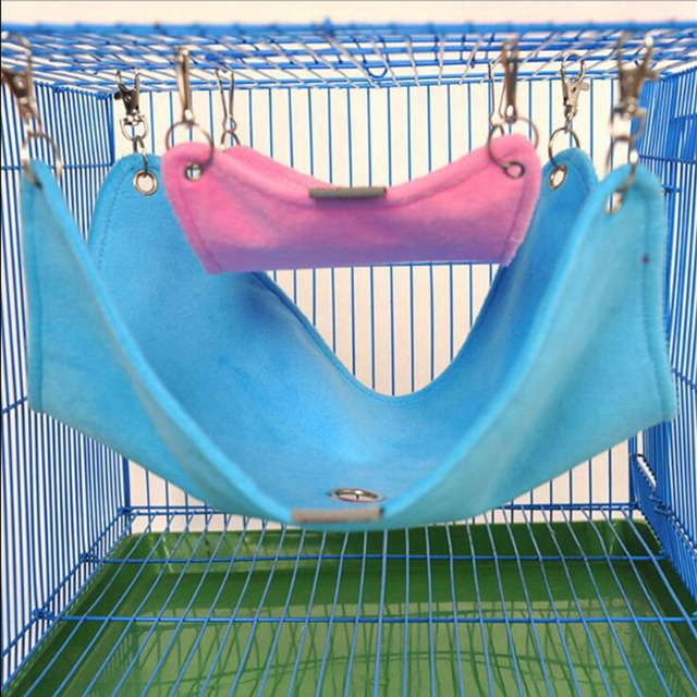 Warm Plush Cloth Hamster Chinchilla Hammock Guinea Pig Rabbit Hanging Bed Cage Accessories Pet Toys S M L
