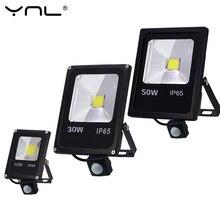 Светодиодный светильник с датчиком движения, 220 В, 50 Вт, 30 Вт, 10 Вт, уличный светодиодный точечный светильник, прожектор, настенный светильник, отражатель IP65, водонепроницаемый светильник ing