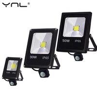 Motion Sensor Led Flutlicht 220V 50W 30W 10W Outdoor Led-strahler Flutlicht Wand Lampe Reflektor IP65 Wasserdichte Beleuchtung