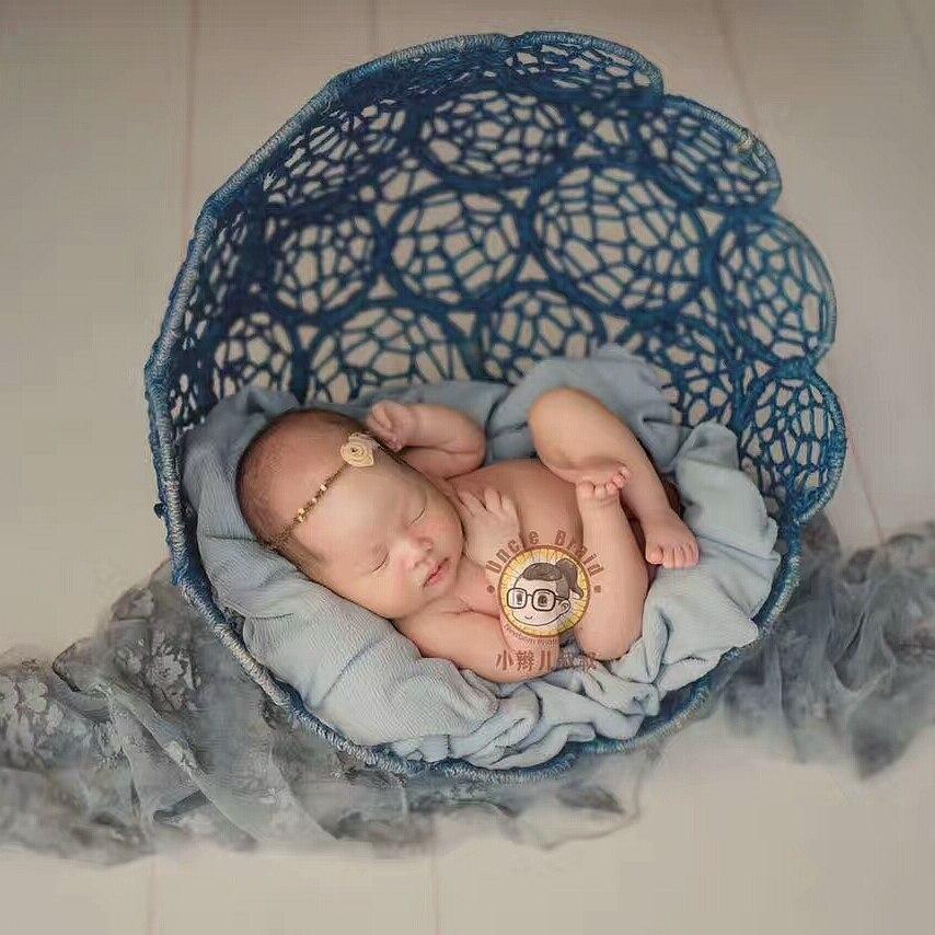 Nouveau-né photographie accessoires fer panier cadre accessoire Fotografia accessoires bébé photo accessoires infantile bambin Studio tir