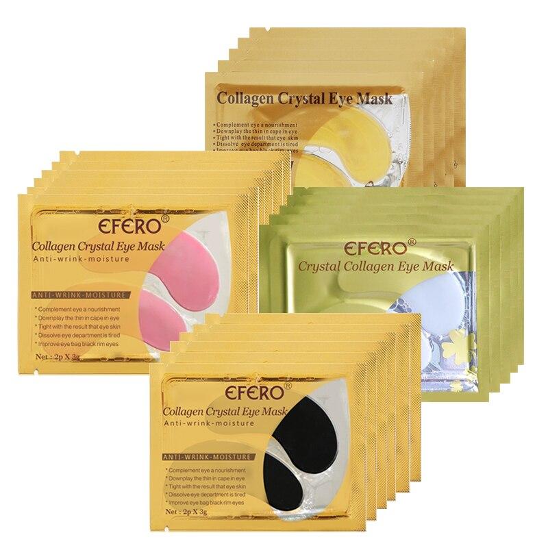 EFERO 8Pairs 24k אבקת זהב קריסטל מסכת עיניים - טיפוח העור