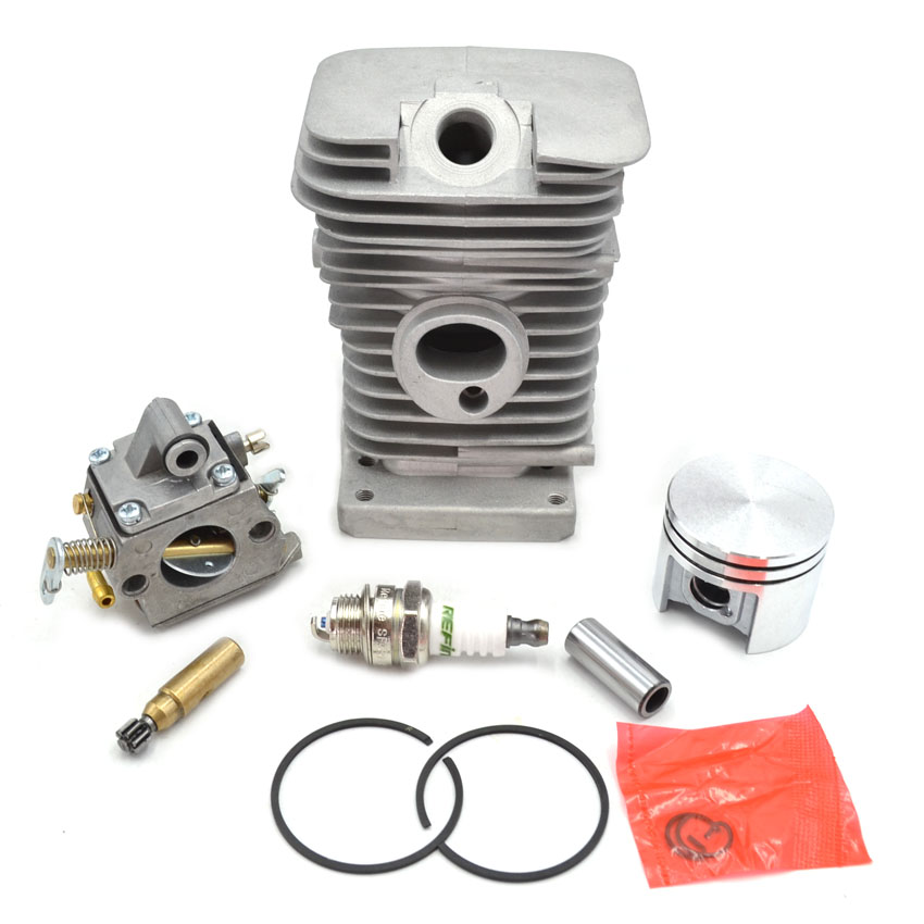 MS180 Cylinder Piston Kit with Rings and Carburetor Carbs Oil Pump Spark Plug Set for Stihl Chainsaw Parts Replacement manka care 110v 220v ac 50l min 165w small electric piston vacuum pump silent pumps oil less oil free compressing pump