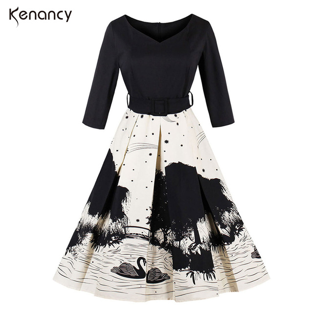 54fab3fda34ba Kenancy 2017 Autumn New Women Chinese Style Mandarin Duck Playi on the  Water Ink Floral Printing