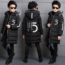 2017 new winter Girls Kids boys long padded cotton Thick warm jacket coat comfortable cute baby Clothes Children Clothing