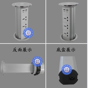 Image 4 - Pantalla táctil de potencia Universal, elevador inteligente para cocina, alta calidad, hogar, multifunción oculta, enchufe de escritorio, carga por USB de oficina
