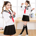 Sailor suit fashion school uniform set student uniform preppy style costume navy suit short skirt 2015 new arrive Free shipping