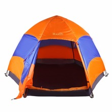 Six Corners 5-8 Person Automatic Tents Sunshade Summer Camping Garden Fishing Beach Picnic Rainproof Shelter Tents Ship from US