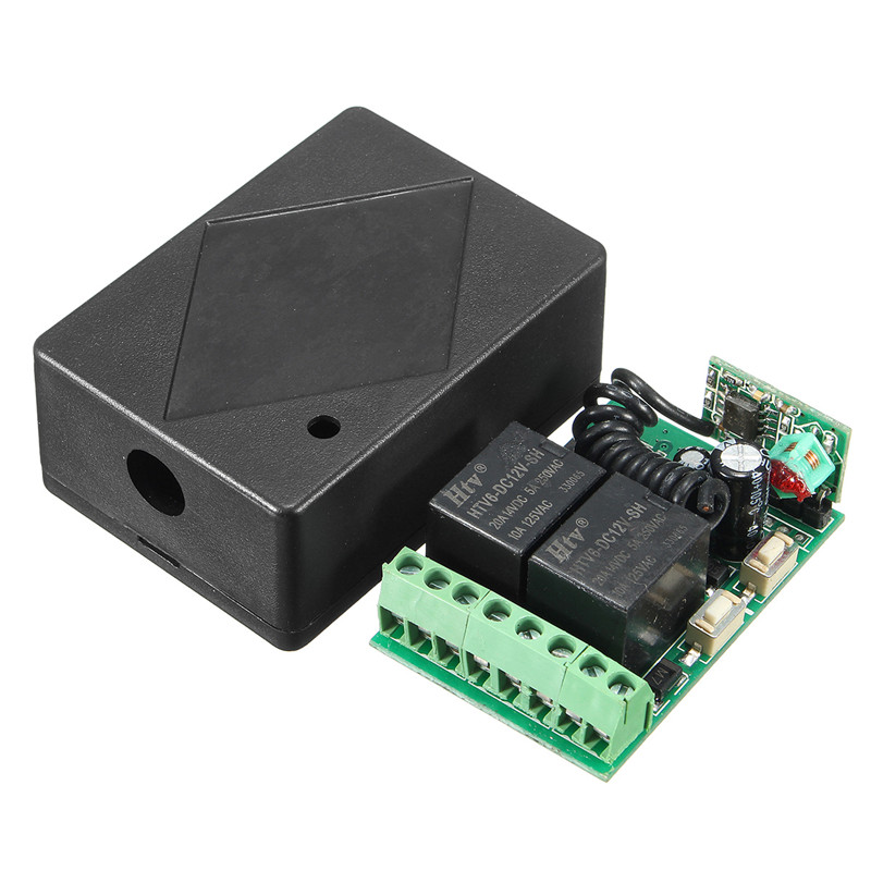 цена на 315MHz Wireless Remote Control Switch 12V DC 2CH 10A relay Receiver Module and RF Transmitter 315MHz Remote Control
