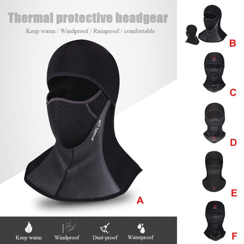 Máscara de ciclismo a prueba de viento para invierno cálido polar Balaclavas bicicleta deporte bufanda máscara bicicleta Snowboard máscara de esquí negro