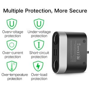 Image 4 - Ugreen çift USB araba şarjı desteği araba kaydedici evrensel cep telefonu araç şarj cihazı genişletici ile iphone şarj cihazı 6S Samsung